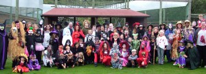 Halloween Fancy Dress costume competition at Monkey World, Wareham, Dorset