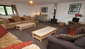 The Merlin Rural Retreat in Sturminster Lounge