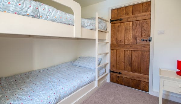 traditional cottage swanage bunk room