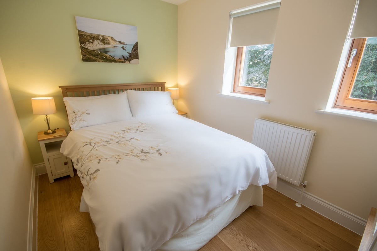 seaside holiday home in swanage double bed
