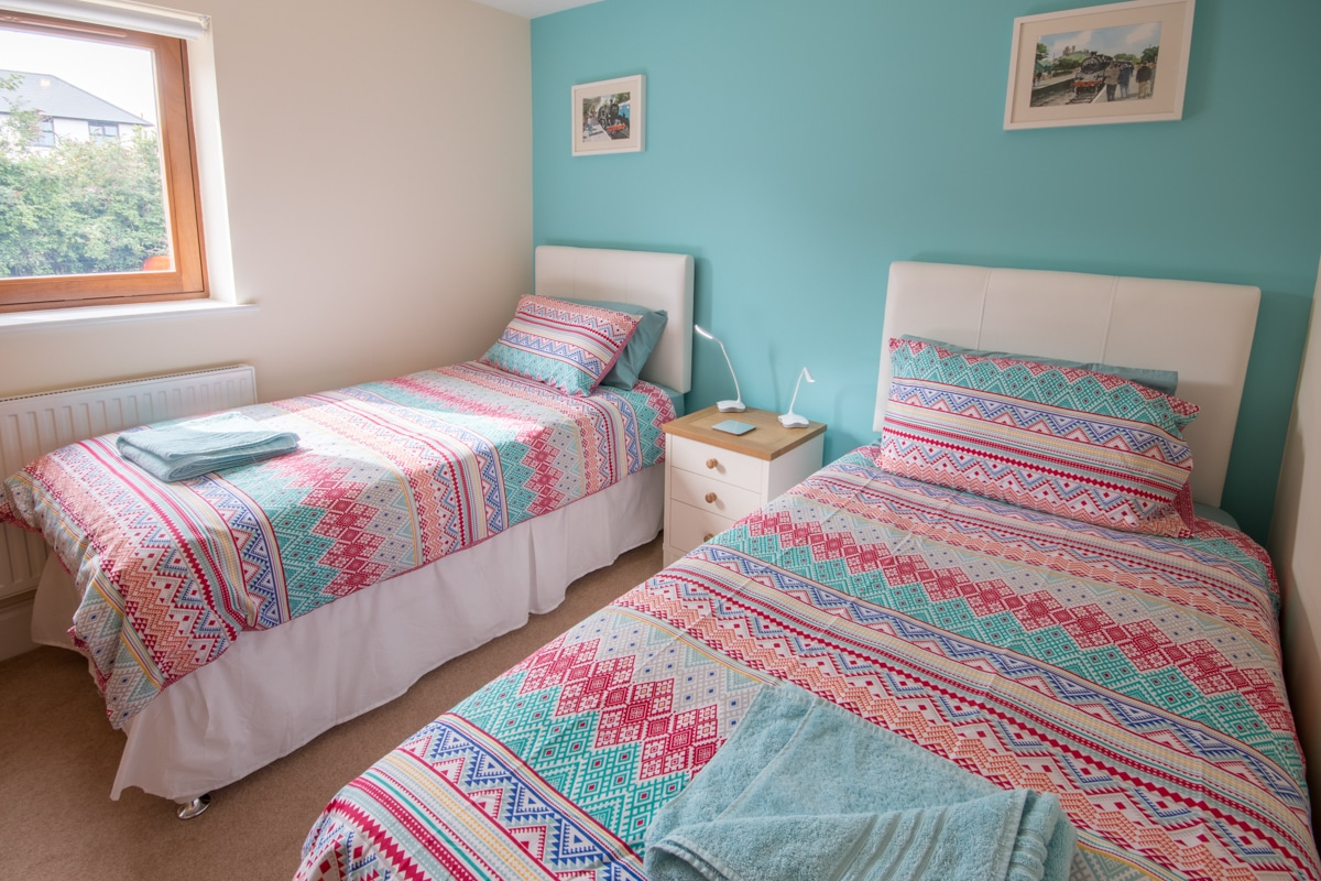 seaside holiday home in swanage twin room