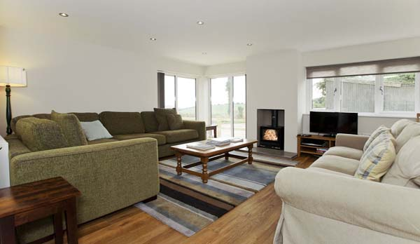 holiday home in worth matravers living room