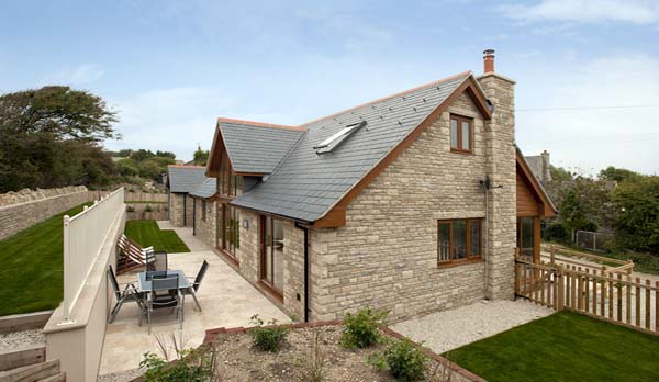 holiday home in worth matravers back exterior