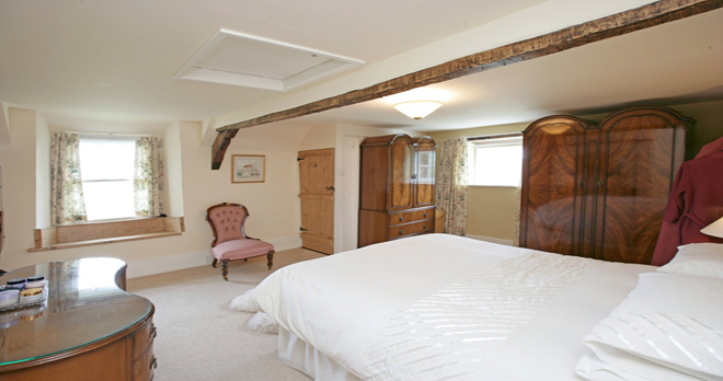 holiday cottage in studland master bedroom