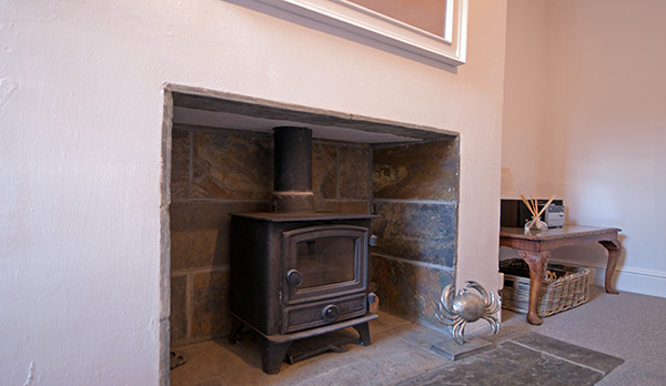 holiday home in wareham log burner