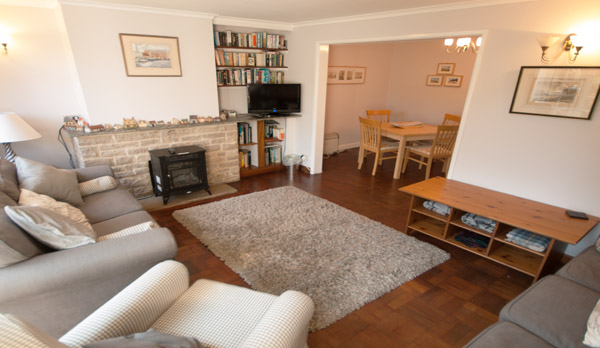 holiday cottage langton matravers living room 2