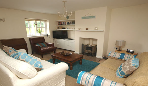 holiday cottage in lulworth cove lounge