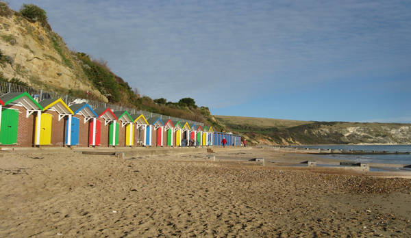 self catering holiday in swanage beach hut