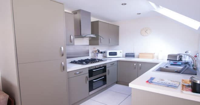 holiday apartment in swanage kitchen