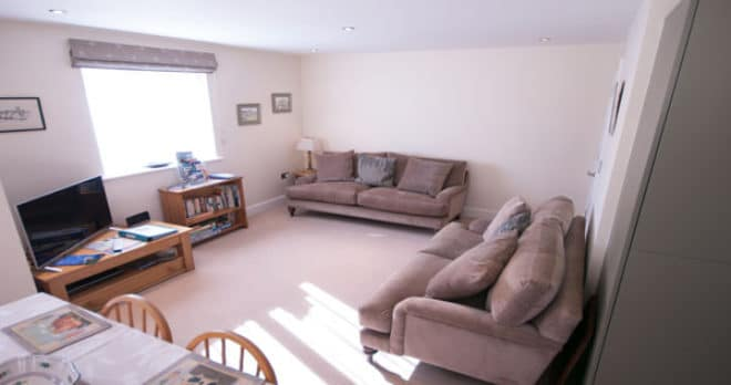holiday apartment in swanage living room