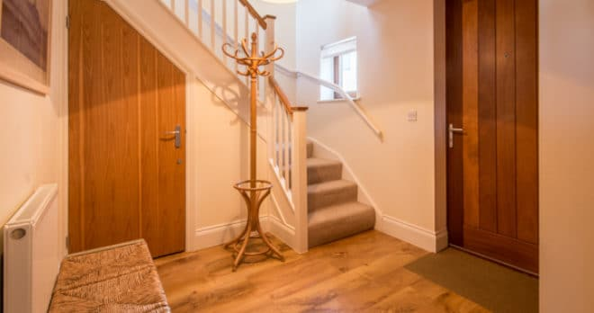 self catering holiday in swanage entrance