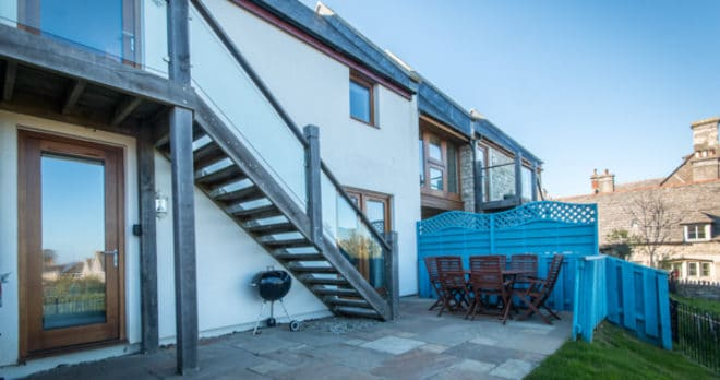 self catering holiday in swanage rear to house