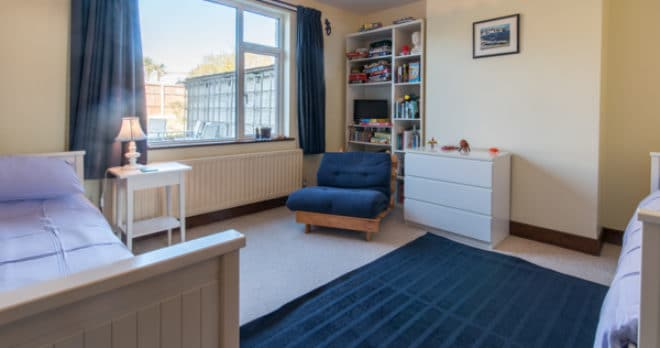 Accommodation for large groups in Swanage fourth bedroom