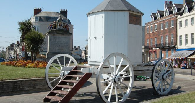 holiday home weymouth Victorian changing hut