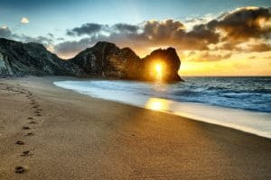 durdle door on the dorset coast