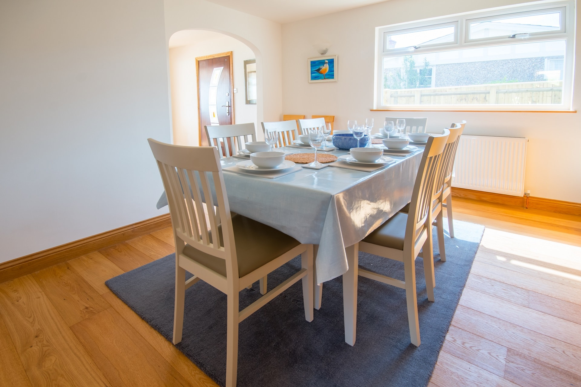 pet friendly sea view swanage dining table