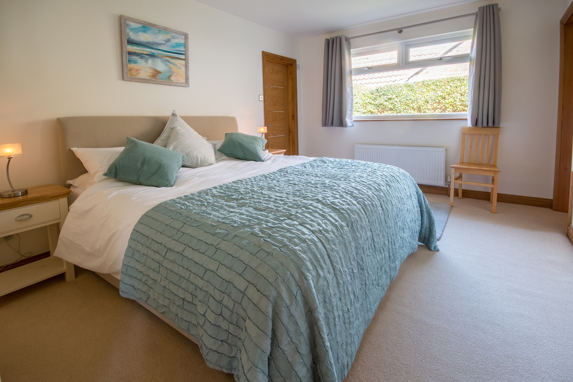 pet friendly sea view swanage master bedroom