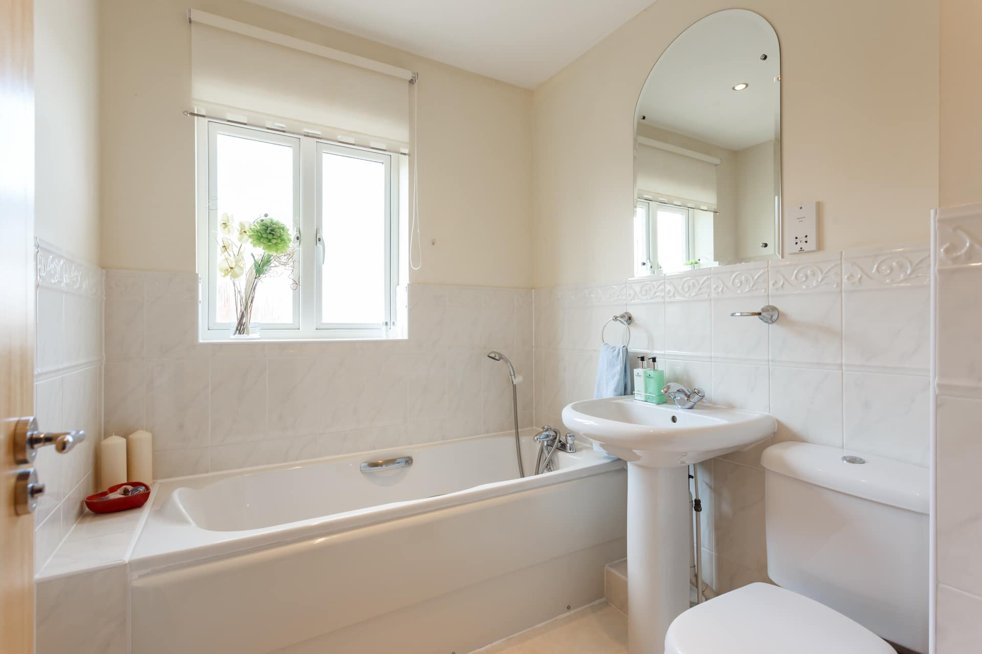 Spacious family bathroom on first floor