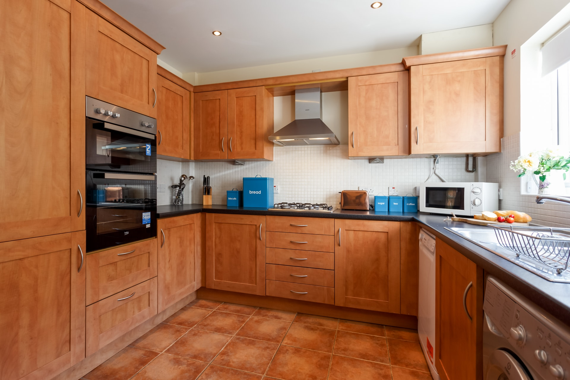 Spacious kitchen with everything you need whilst on holiday