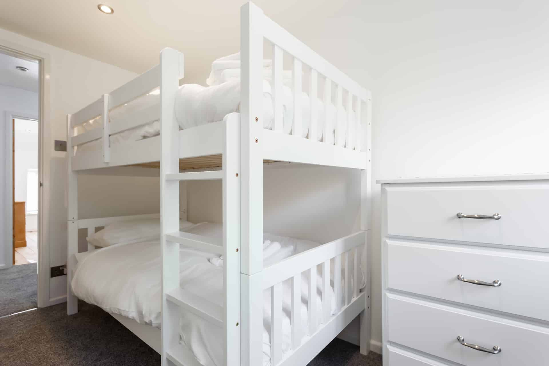 childrens bunks in family friendly chickerall holiday home